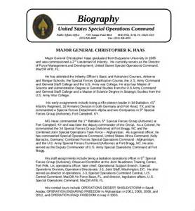 Free Biography Template Word