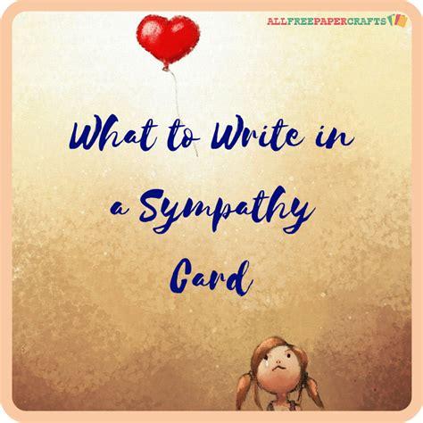 write   sympathy card allfreepapercraftscom