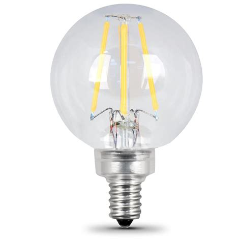 feit electric 40w equivalent soft white g16 5 dimmable