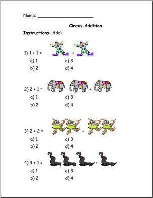 circus lesson plans for preschoolers worksheet addition circus theme preschool abcteach 226