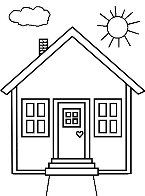 Coloring House by And Coloring Pages For Houses Colouring