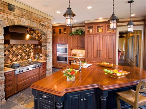 inspired examples  wood kitchen countertops hgtv