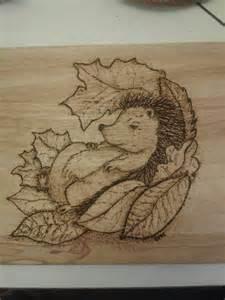 Hedgehog Wood-Burning Patterns