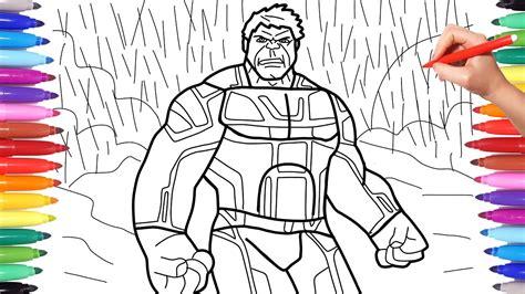 avengers endgame hulk suit avengers 4 endgame coloring