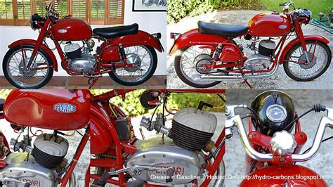 Ferrari Motorcycle From The 50s