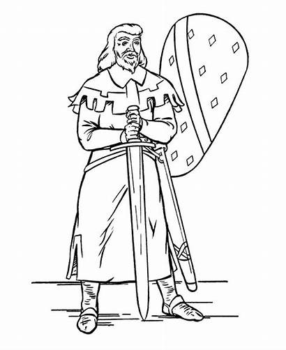 Queen Coloring Medieval Pages Knight Knights King