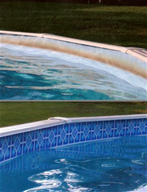 swimming pool borderlines pool liner makeover 6 quot tiles