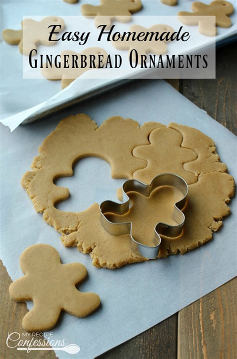 Plastic Wrap Your Christmas Tree by Easy Homemade Gingerbread Ornaments My Recipe Confessions