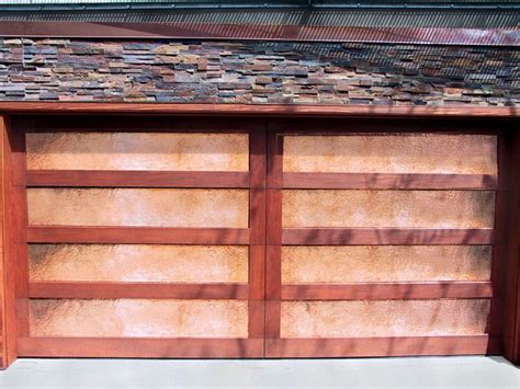 San Diego Garage Door by Copper And Wood Garage Door In San Diego San Diego