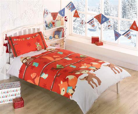Christmas Xmas Single Quilt Duvet Cover & Pcase Bed Set