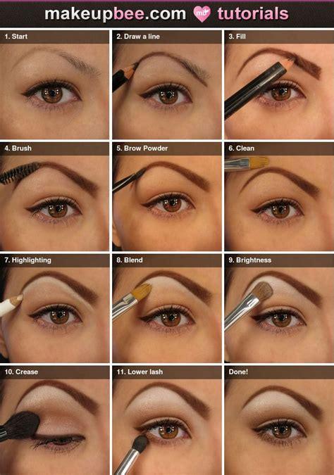 step  step filling  shaping brow  natural