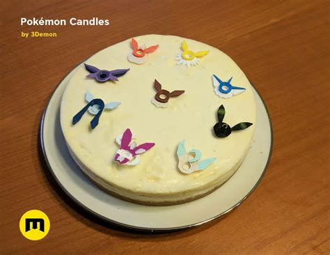 pokemon eeveelutions  pikachu birthday candles