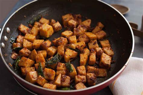 simple yam recipe kerala style chena mezhukkupuratty recipe yam stir fry recipe by archana s kitchen simple