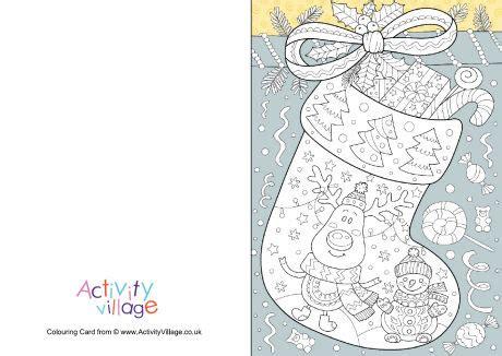 activity village christmas colour pop colouring card