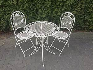 Gartenmöbel Tisch Metall : gartenm bel sitzgruppe garnitur balkon set metall tisch 2 st hle shabby altwei online kaufen ~ Markanthonyermac.com Haus und Dekorationen
