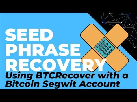 Just stamp it out with your 12 or 24 word recovery phrase and secure it in a safe place. Using BTCRecover with Segwit Bitcoin Addresses (Seed Phrase Recovery For Ledger, Trezor, Coinomi)