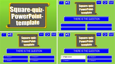 powerpoint quiz template square  themes