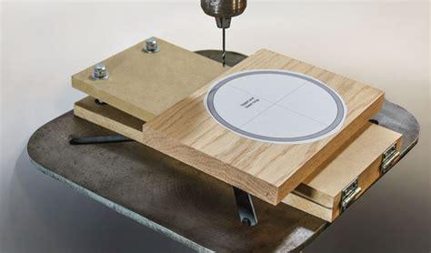 adjustable angle drill press jig scroll  woodworking