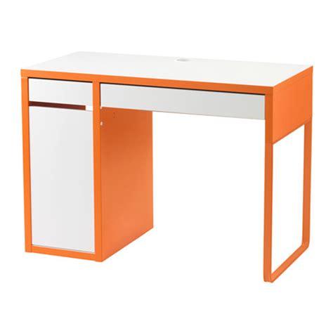 bureau micke blanc micke bureau blanc orange ikea