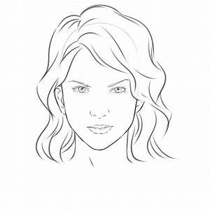Face Drawing Outline Woman Face Outline Drawing Woman Face ...
