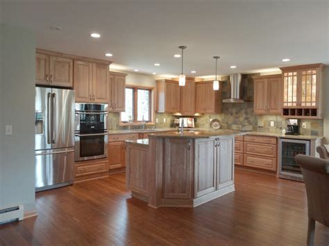 Expansive Rustic Kitchen With Island Seating Traditional