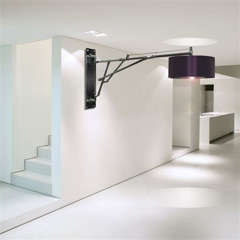 unusual wall lighting with large l shades by lm studio