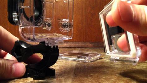 gopro   change waterproof case  door youtube