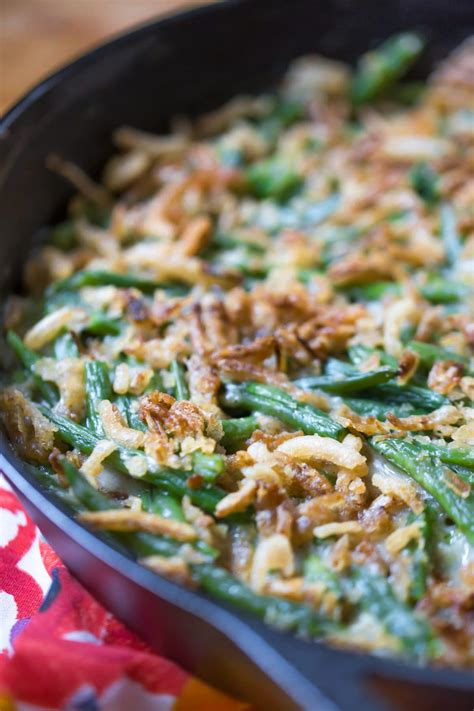 green bean skillet casserole dairy  vegan option