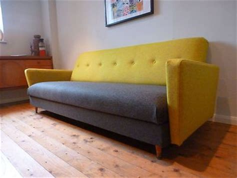 retro settees and sofas fabulous 50 s 60 s retro vintage sofa bed settee 3 seater