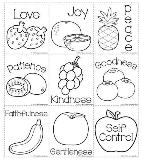 fruit of the spirit matching and coloring cards freebie 848 | f5c73ca5b7e754117a760261bd6f791d
