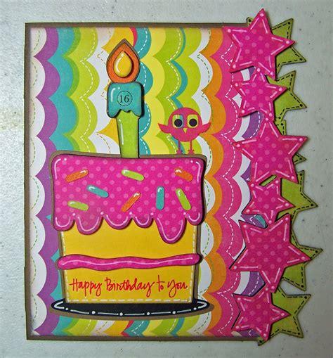 cricut birthday card ideas scrappins  hoot