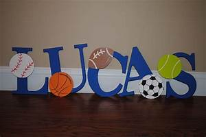 decorative sports themed wall letters diy order your With sports themed wall letters