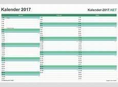KALENDER 2017 mit Feiertagen & Ferien