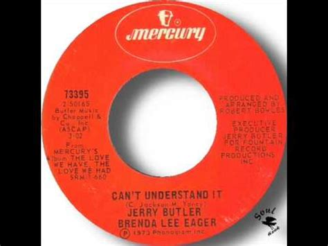 brenda lee eager youtube jerry butler brenda lee eager can t understand it youtube
