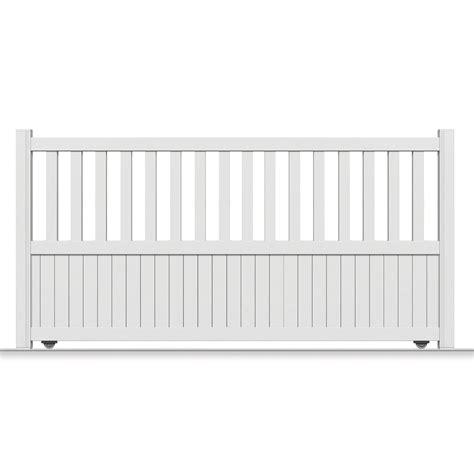 portail coulissant aluminium zorn blanc primo l 350 x h 140 cm leroy merlin