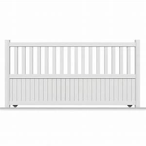 Leroy Merlin Portail : portail coulissant aluminium zorn blanc primo x h ~ Nature-et-papiers.com Idées de Décoration