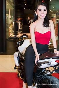 Motorcycles And Pretty Girls At Bmf Bangkok Thailand 2016