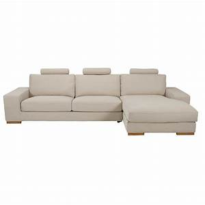 canape d39angle droit 5 places en tissu beige chine daytona With canape angle droit 5 places