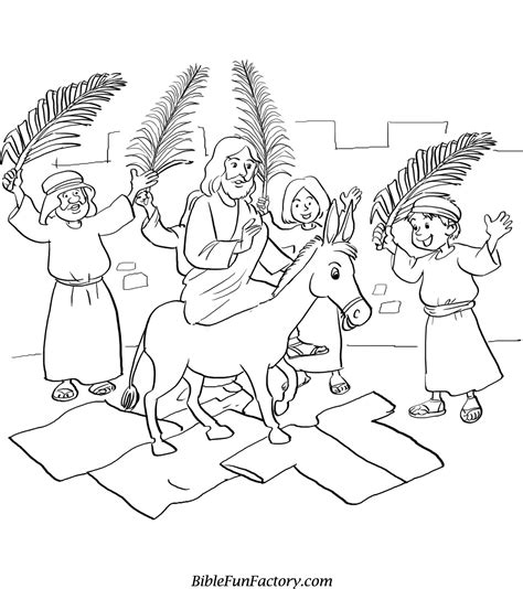 Free Palm Sunday Coloring Sheets Bible Lessons Games