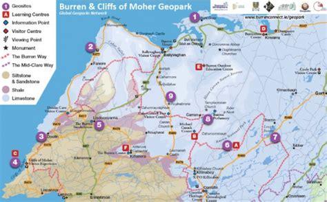 Burren and Cliffs of Moher UNESCO Geopark Maps | Burren ...