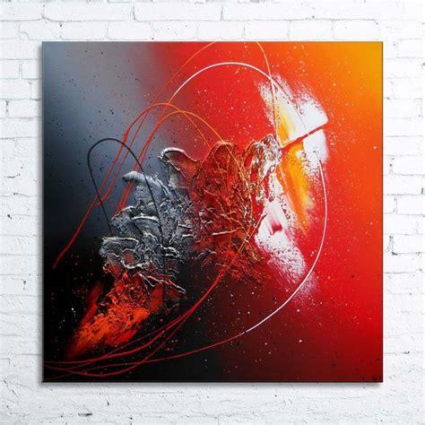 tableau abstrait contemporain quot hyades quot peinture moderne acrylique toile en relief noir