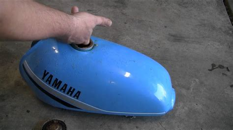 tank gas motorcycle rust remove clean rusty less than dollars