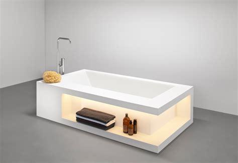 meuble de cuisine rangement baignoire design avec rangements en betacryl