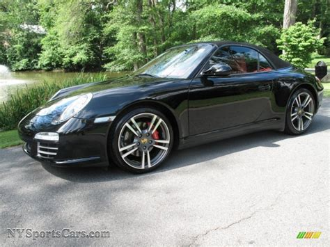 porsche 911 convertible black 2009 porsche 911 carrera 4s cabriolet in black 756133