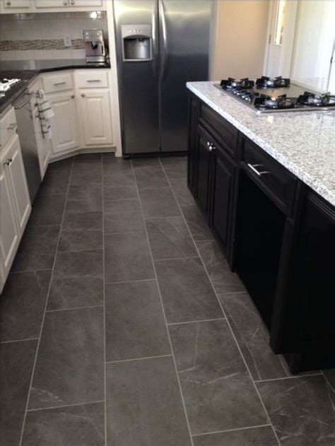 slate look kitchen tile floor home decor