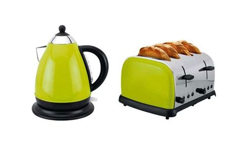 Green Kettle And Toaster Set - colourmatch argos toaster kettle wired