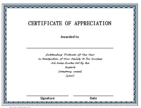 certificate of appreciation for sponsorship template 30 free certificate of appreciation templates and letters