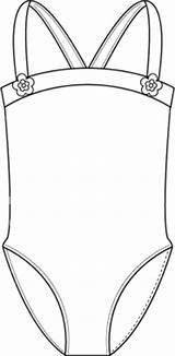 Template Swimsuit Coloring Leotard Deviantart Bathing Suit Templates Sketch Join Deviant sketch template