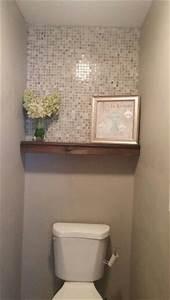 Half Bath Redo Mosaic Tile Floating Shelf Behr Perfect