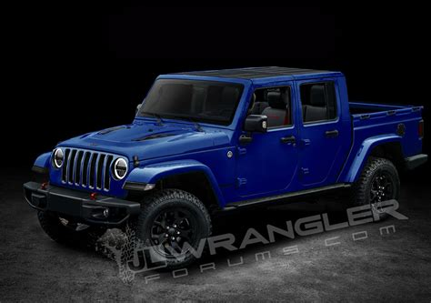 jeep wrangler pickup truck   named scrambler   diesel sort  confirmed carscoops